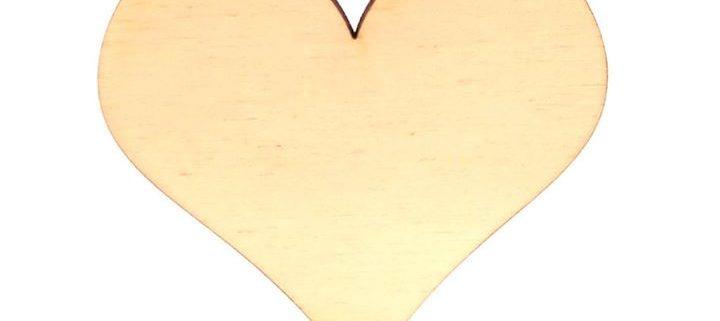 """5 Tischkarten Platzkarten /""""Holzherz/"""" aus Holz zu zum Selbstbeschriften"""