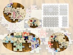 Gästebuch Hochzeit / Hochzeitspuzzle aus Holz mit unendlicher Erweiterbarkeit. Beispiel