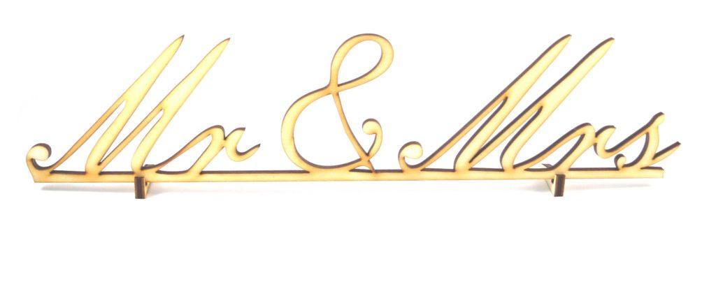 Hochzeit Aufsteller Schriftzug Mr & Mrs