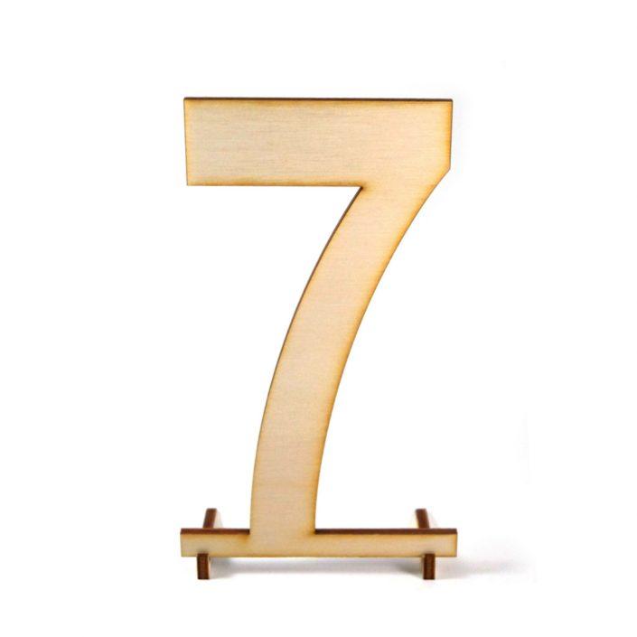 Tischnummer für den Hochzeitstisch - Holzzahl
