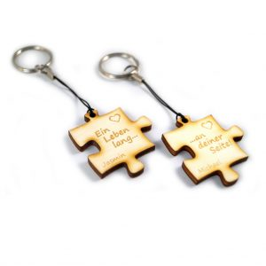 """Das Schlüsselanhänger-Paar """"Ein Leben lang an deiner Seite"""""""